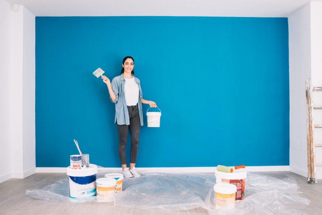 Como pintar um quarto sozinha